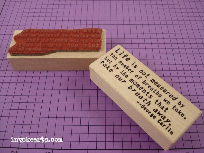 Carlin Quote Stamp / Invoke Arts Collage Rubber Stamps image 0