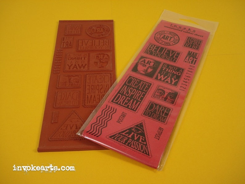 ArtPost 1 / Invoke Arts Collage Rubber Stamps / Unmounted image 0