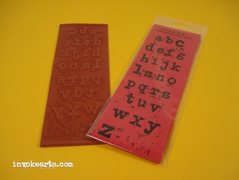 Grungy Letters Alphabet / Invoke Arts Collage Rubber Stamps / image 0