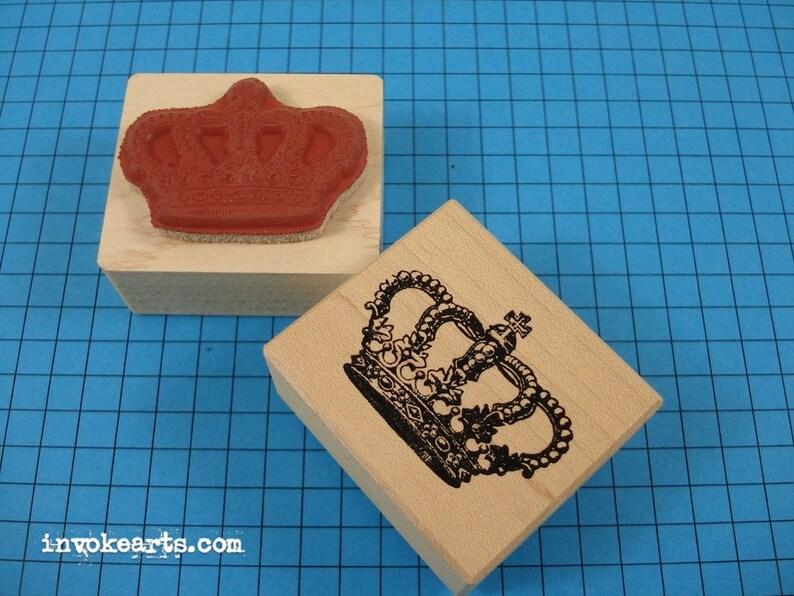 Royal Crown Stamp / Invoke Arts Collage Rubber Stamps image 0