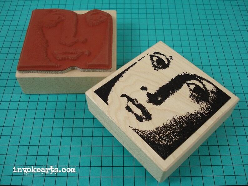 Monique Face Stamp / Invoke Arts Collage Rubber Stamps image 0
