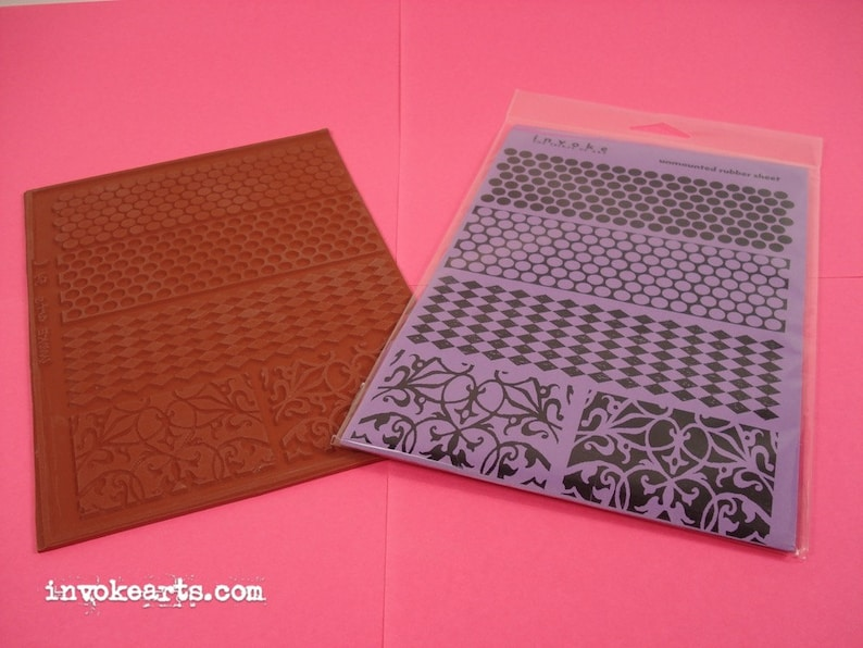 Backgrounds / Invoke Arts Collage Rubber Stamps / Unmounted image 0