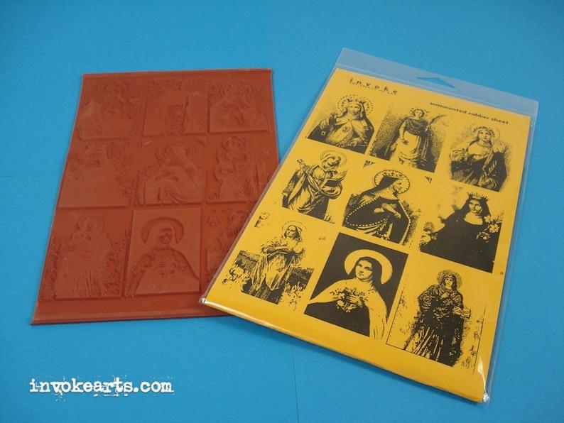 Saint Portraits / Invoke Arts Collage Rubber Stamps / image 0