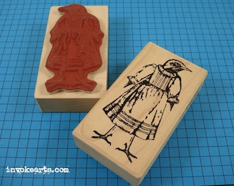 Sweet Tweet Stamp / Invoke Arts Collage Rubber Stamps