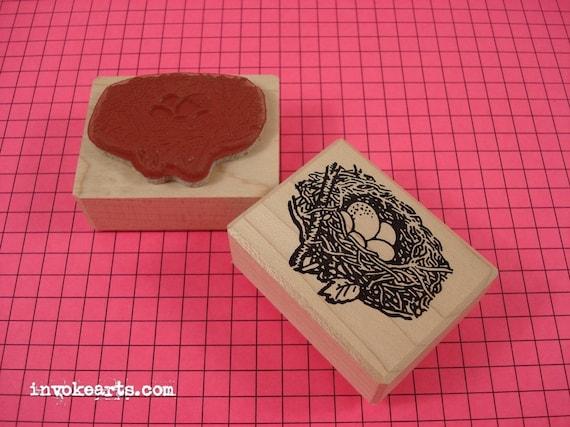 Baby Rosebud Stamp  Invoke Arts Collage Rubber Stamps