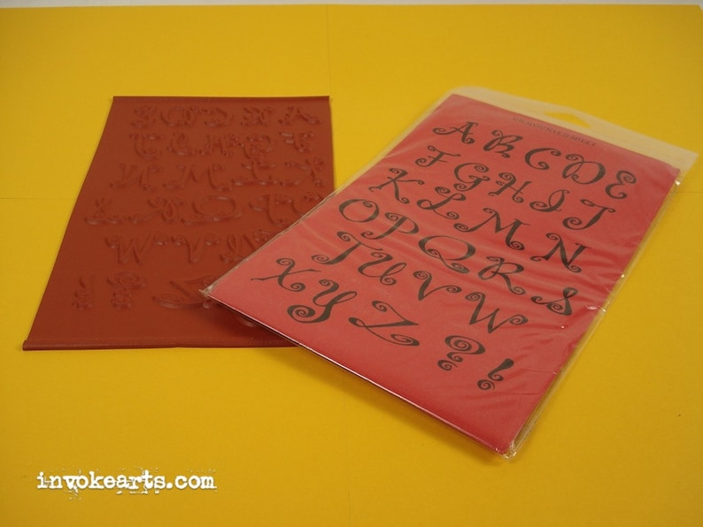 Whimsy Uppers / Alphabet Invoke Arts Collage Rubber Stamps / image 0