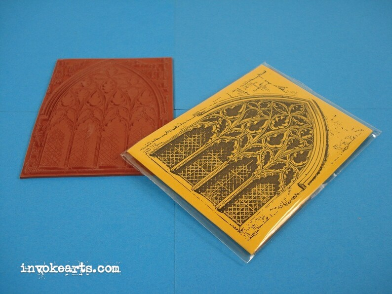 Gothic Arch ATC / Invoke Arts Collage Rubber Stamps / image 0