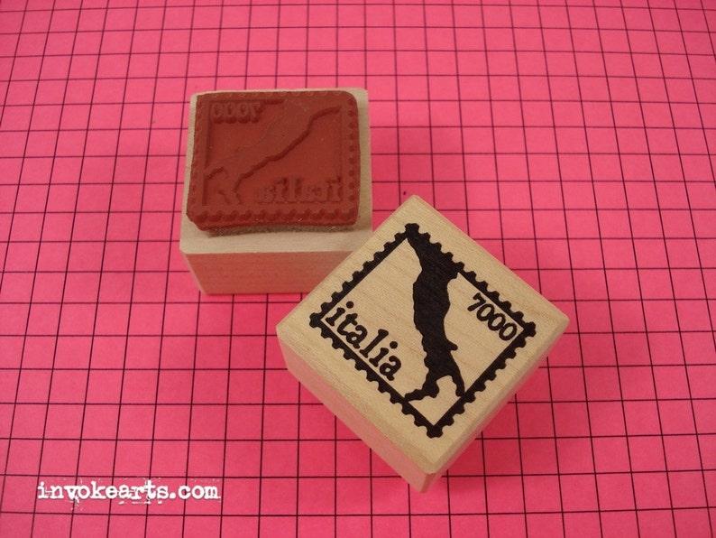 Italy Post  Stamp / Postoid / Invoke Arts Collage Rubber image 0