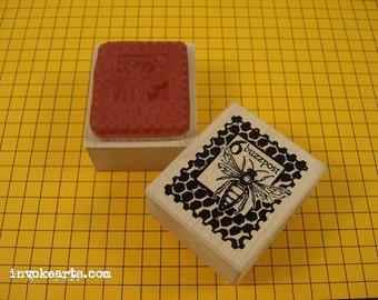 Buzzpost Stamp / Postoid / Invoke Arts Collage Rubber Stamps