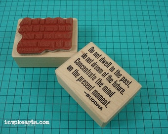 Buddha Quote Stamp / Invoke Arts Collage Rubber Stamps