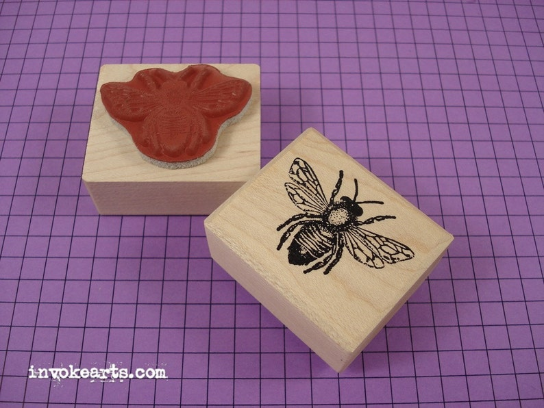 Honey Bee Stamp / Invoke Arts Collage Rubber Stamps image 0