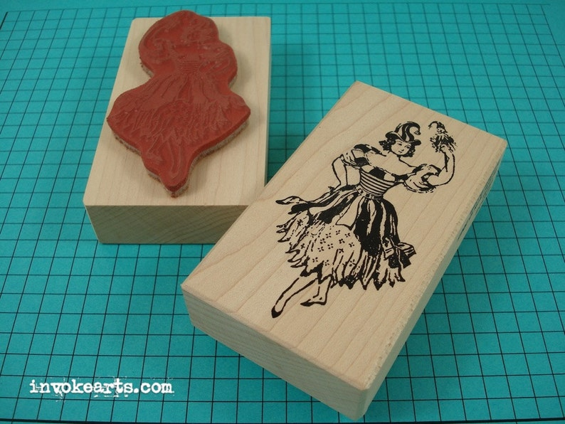 Sale / Tasha Stamp / Invoke Arts Collage Rubber Stamps image 0