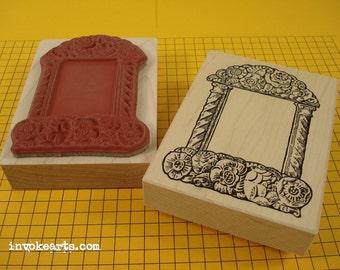 Carved Altar Stamp / Invoke Arts Collage Rubber Stamps