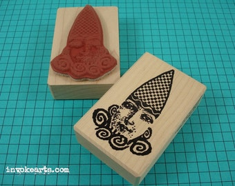 Swirl Cloud Face Stamp / Invoke Arts Collage Rubber Stamps