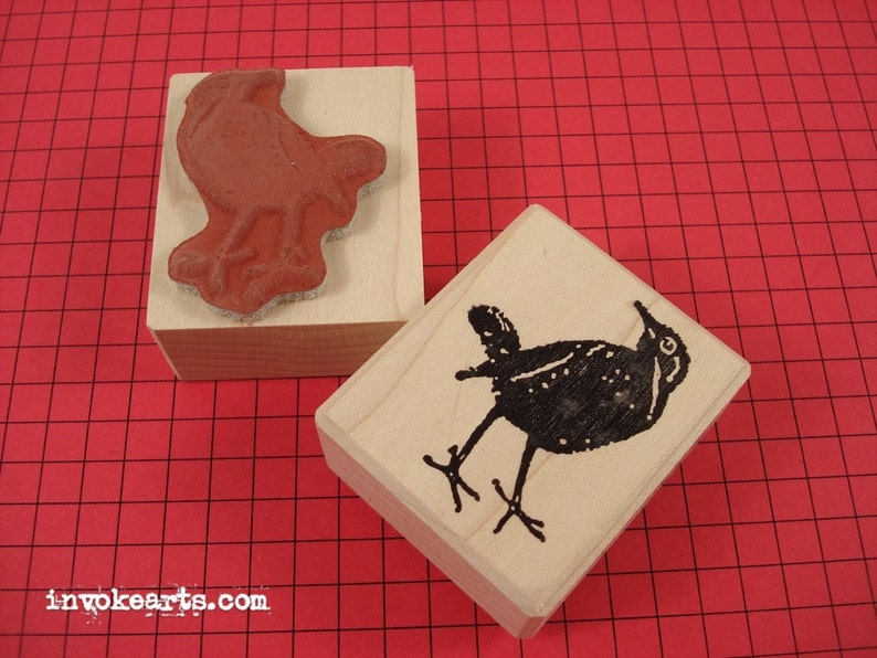 Blackbird Stamp / Invoke Arts Collage Rubber Stamps image 0