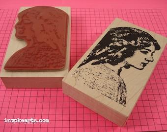Jasmine Face Stamp / Invoke Arts Collage Rubber Stamps