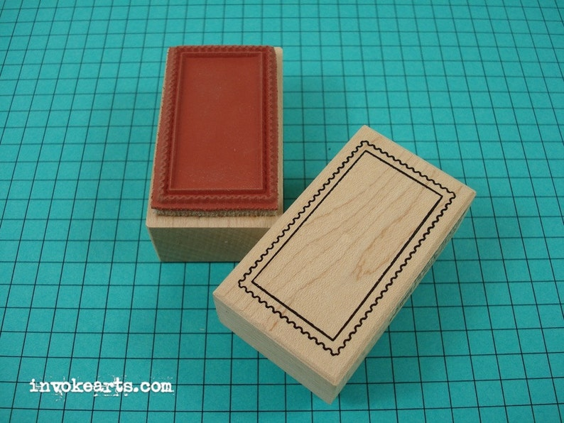 Rectangular Blank Postage Frame Stamp / Postoid / Invoke Arts image 0