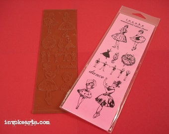 Ballerina / Invoke Arts Collage Rubber Stamps / Unmounted Rubber Stamp