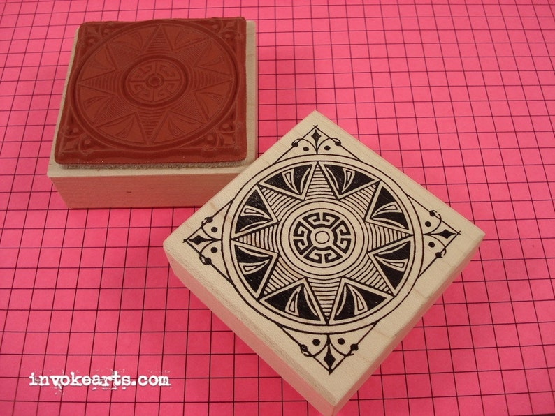 Starlight Square Stamp / Invoke Arts Collage Rubber Stamps image 0