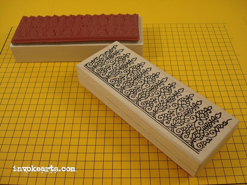 Paisley Top 1 Stamp / Invoke Arts Collage Rubber Stamps image 0
