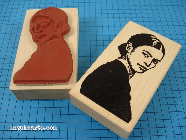 Fridas Glance Stamp / Invoke Arts Collage Rubber Stamps image 0