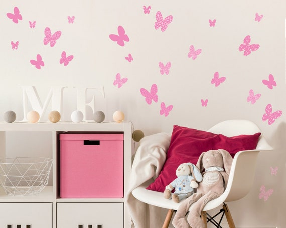 Hearts Wall Decals Girls Wall Stickers Baby Nursery Room Decor Etsy