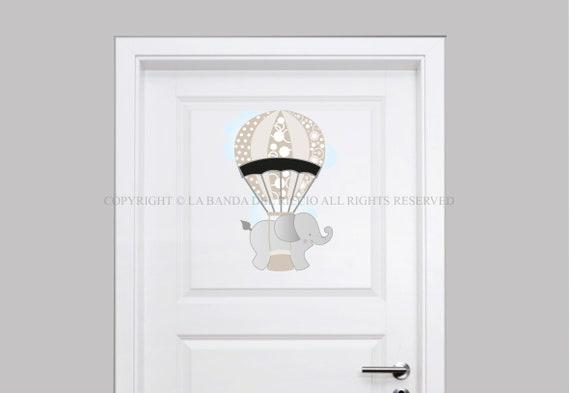Adesivi porta cameretta Adesivi porta Cavallino a dondolo Decorazioni adesive per porta con lavagna