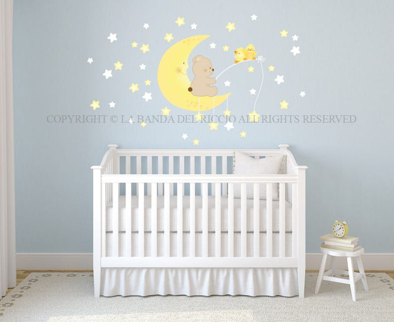 wall decals fluo stars wall stickers baby nursery baby wall | etsy