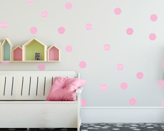 Pareti Cameretta A Pois : Pois wall decals girl wall stickers bambine adesivi murali etsy