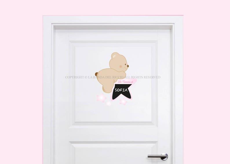 Decorazioni Pareti Orsetti : Adesivi porta cameretta decorazioni adesive per porta con etsy