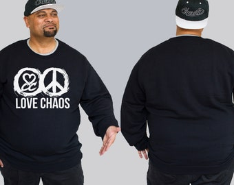 d8e496e58a2 Love Chaos - Chaotic King Size Plus Size Mens Streetwear Crew Big and Tall  Crewneck Sweat Jumper up to size 3XL and 5XL. 376.52 NOK. CC Dripping ...