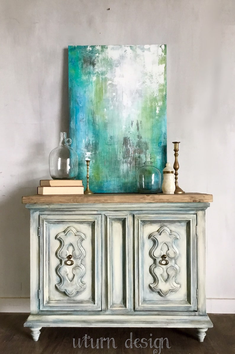 Sold!!!White Distressed Entryway Cabinet, Painted Coasal Tv Stand, Small  Hutch