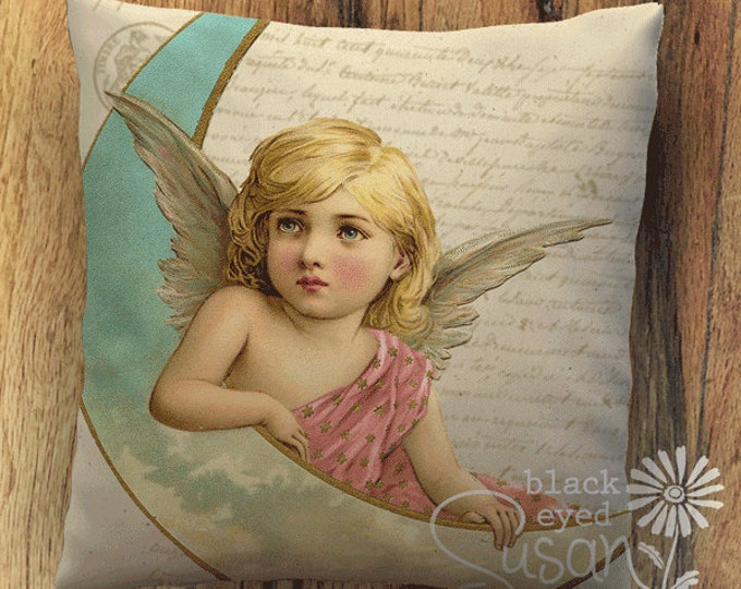 "Angel I Christmas Pillow Cover | 14""x14"" 18""x18"" 22""x22"" 