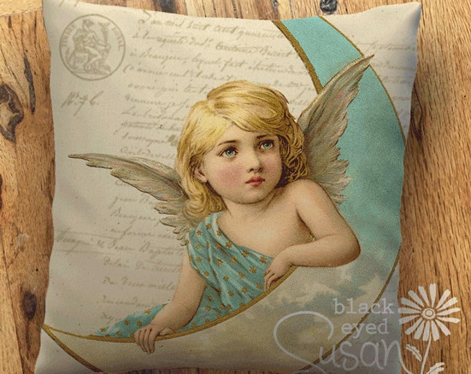 "Angel II Christmas Pillow Cover | 14""x14"" 18""x18"" 22""x22"" 