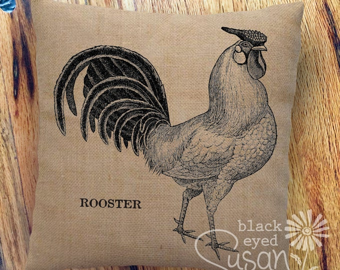 "Farmhouse ""Rooster"" Pillow Cover 