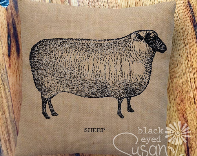 "Farmhouse ""Sheep"" Pillow Cover 