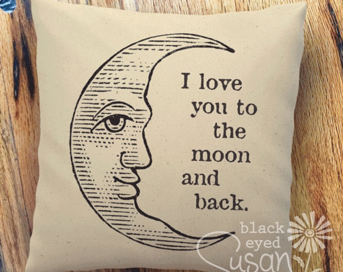 "16 Ink color choices | ""I love you to the moon and back"" 