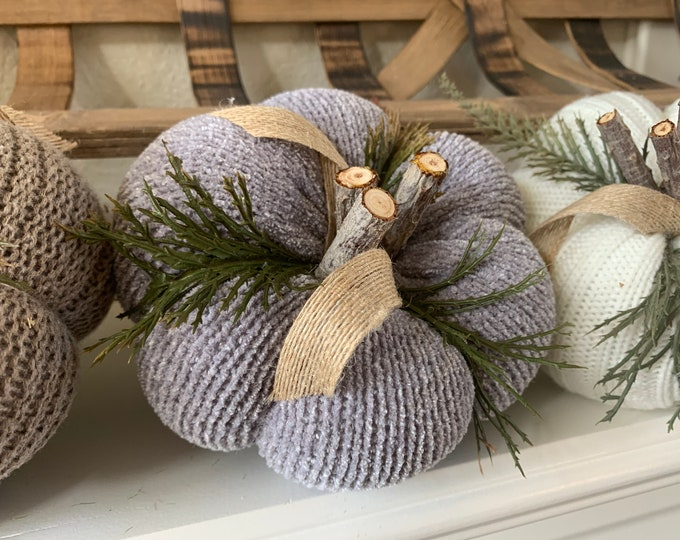 Sweater Pumpkin | Fall Decor | Handmade Autumn Decoration