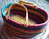 Large raffia basket