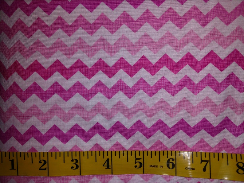 10 Yards BOLT Pink Baby Chevrons Stripes Pattern Hot Pastel Pink 100/% Cotton Quilting Material Fabric Seamless bty girl princess pretty