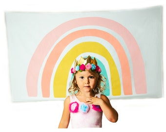 Colorful Rainbow Large Tapestry Wall Hanging Dorm Bedroom Classroom School Decoration 60inx36in