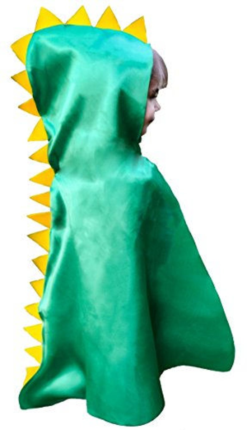 Dinosaur Cape Halloween Costume CPSCCPSIA Safety Compliant Superhero with Hood and Mask Dress Up Play T-Rex Dino Set