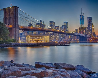 Brooklyn Bridge, Manhattan Lights