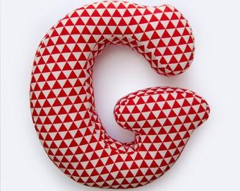 Alphabet Pillow Letter G, Alphabet Pillows, Initials Letter Pillow, Letters Cushions, Custom Letters Pillow, Write your name with pillow!
