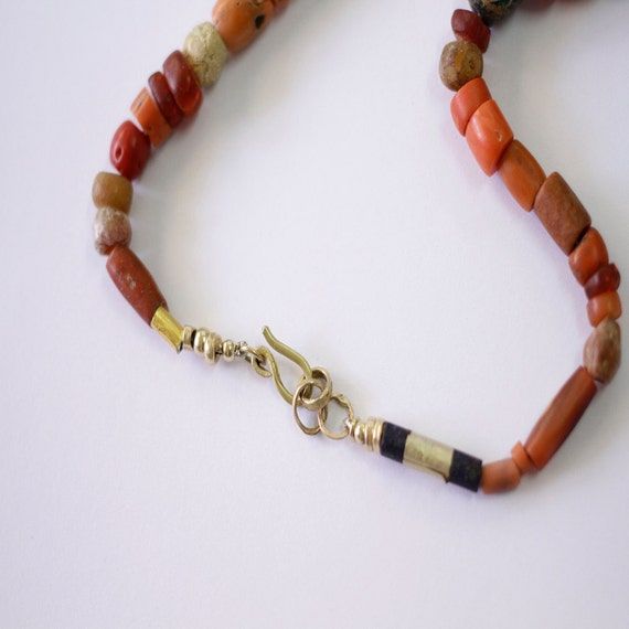 Special dipped Natural 100/% Real Genuine Coral Necklace Choker in Chunky Bead
