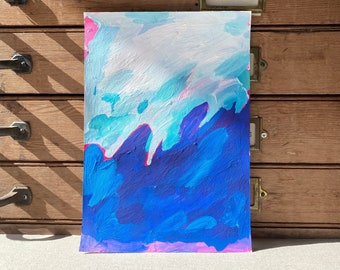 Original Abstract Painting, Seascape Ocean Painting, Original Wall Art, Contemporary Painting, Storm Painting, Abstract Ocean Art, Water Art