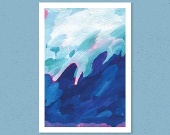 Seascape Painting Art Print, Storm Landscape Art Print, Abstract Painting, Ocean Painting Print, Abstract Art Print