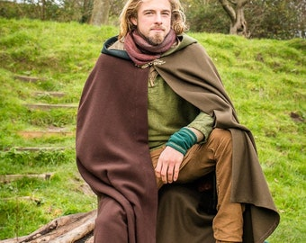 Merlin Cloak Pure Wool Made to Measure Cape Druid Pagan Wizard Shaman Greenman Avalon Cloaks Celebrant