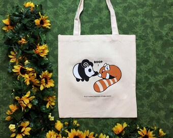 Boop! Pls No Boop! - Two Sided, Screen Printed Tote Bag