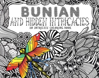 Bunian and Hidden Intricacies PDF version coloring book instant download | Coloring Pages | Flowers | Doodles  | Zentangle by Marty Woods